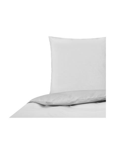 Perkal dekbedovertrek Elsie, Weeftechniek: perkal Draaddichtheid 200, Lichtgrijs, 140 x 200 cm