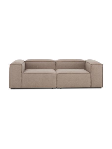 Modulares Sofa Lennon (3-Sitzer) in Braun, Bezug: 100% Polyester Der strapa, Gestell: Massives Kiefernholz, Spe, Webstoff Braun, B 238 x T 119 cm