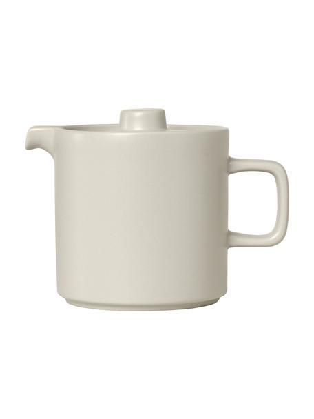 Teekanne Pilar aus Keramik in Beige matt/glänzend, 1 L, Keramik, Beige, 1 L