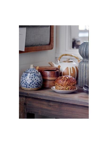 Lechera y azucarero artesanal de porcelana Camellia, 2pzas., Botes: porcelana, Azul, Set de diferentes tamaños