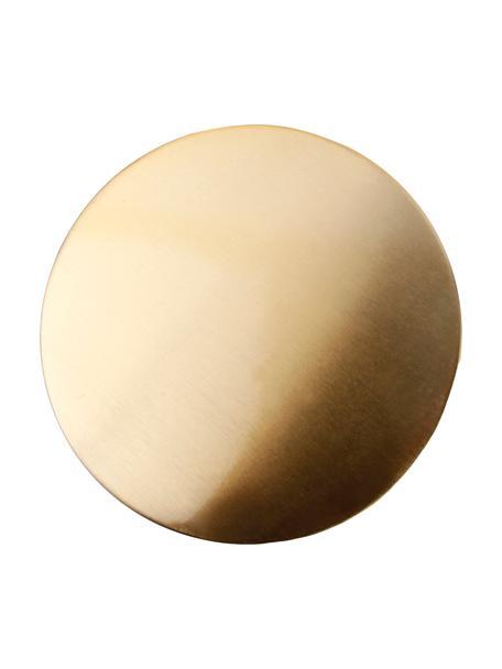 Untersetzer Cheers in Gold, 4 Stück, Metall, beschichtet, Goldfarben, Ø 10 cm
