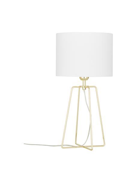 Lampa stołowa Karolina, Biały, złoty, Ø 25 x W 49 cm