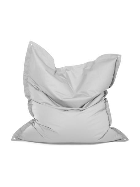 Duży worek do siedzenia Meadow, Tapicerka: poliester powlekany poliu, Jasnoszary, S 130 x W 160 cm