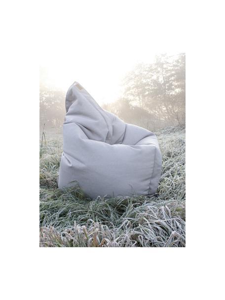 Grote zitzak Meadow, Bekleding: polyester, polyurethaan b, Lichtgrijs, 130 x 160 cm