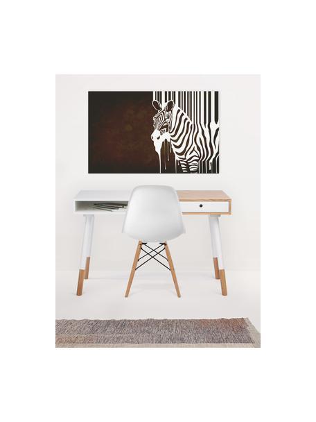 Schreibtisch Sonnenblick im Skandi Design, Eichenholz, Weiß, B 120 x T 60 cm