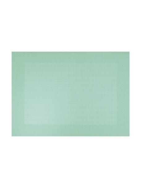 Kunststoffen placemats Trefl, 2 stuks, Kunststof (PVC), Mintgroen, 33 x 46 cm