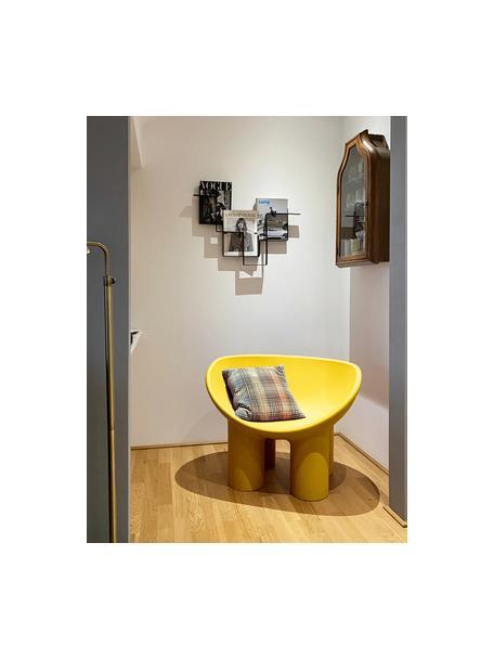 Sillón de diseño Roly Poly, Polietileno, elaborado en un proceso de moldeo rotacional, Ocre, An 84 x F 57 cm
