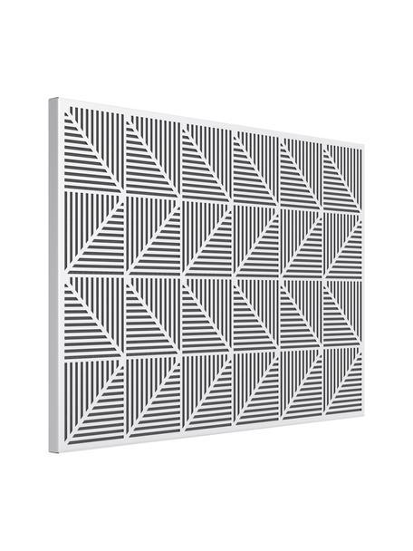 Pinnwand Trigon, Metall, Moosgummi, Weiss, 53 x 38 cm