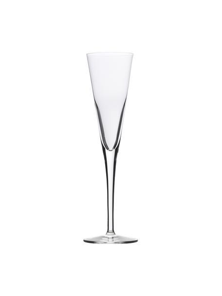 Copas flauta clásica de champán de cristal Event, 6uds., Cristal, Transparente, Ø 7 x Al 24 cm