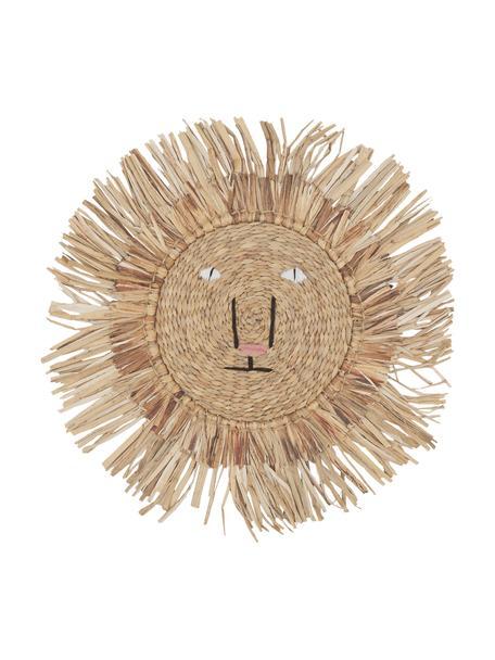 Wandobject Sunny, Natuurlijke vezels, Beige, Ø 63 cm