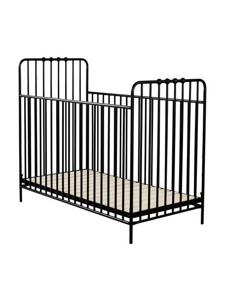 Łóżeczko dziecięce Bexley, Czarny, 60 x 120 cm