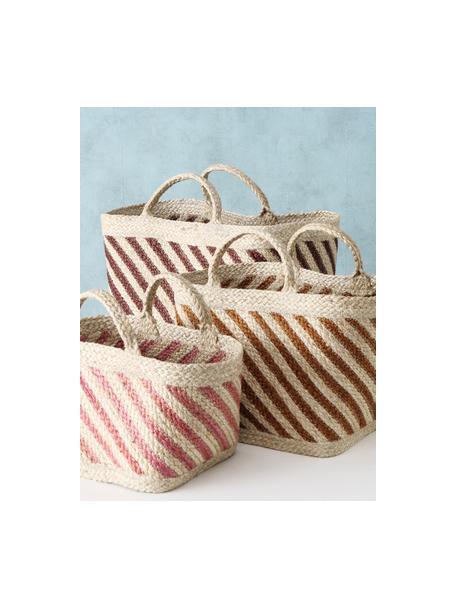 Set de cestas artesanales de yute Magura, 3uds., Yute, Multicolor, Set de diferentes tamaños