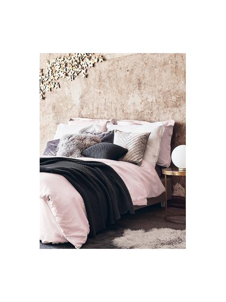 Pościel z organicznej satyny bawełnianej z lamówką Premium, Blady różowy, 135 x 200 cm + 1 poduszka 80 x 80 cm