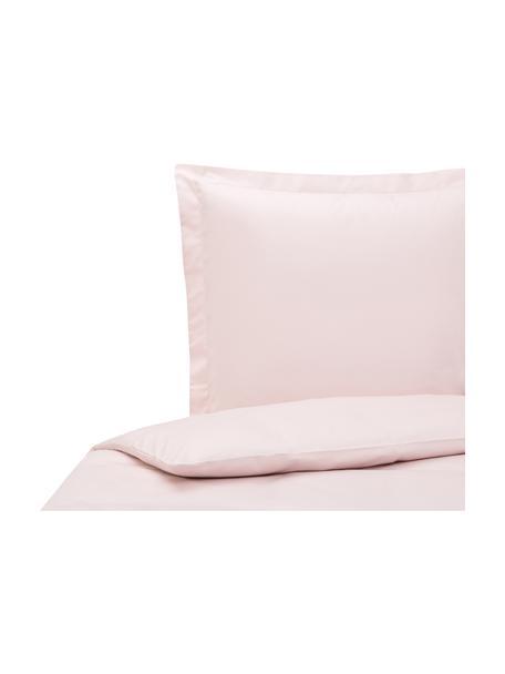 Satin-Bettwäsche Premium aus Bio-Baumwolle in Rosa mit Stehsaum, Webart: Satin Fadendichte 400 TC,, Rosa, 135 x 200 cm + 1 Kissen 80 x 80 cm