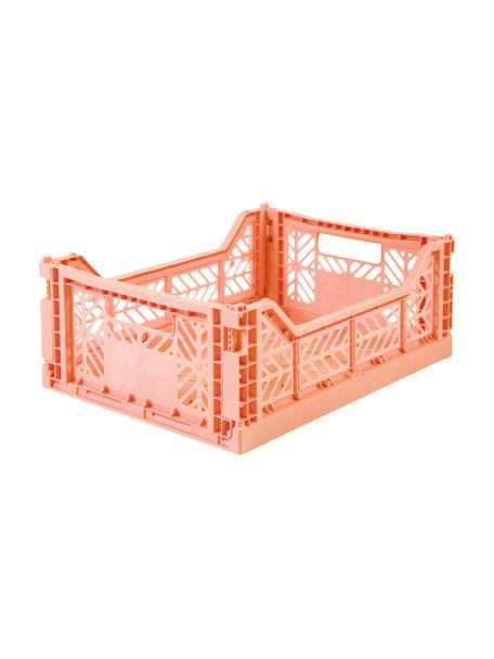 Klappbox Salmon, stapelbar, medium, Recycelter Kunststoff, Lachsfarben, 40 x 14 cm