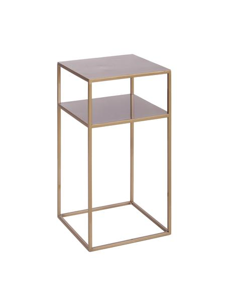 Tavolino  in metallo con piano d'appoggio Tensio, Metallo verniciato a polvere, Ottonato, Larg. 30 x Prof. 30 cm
