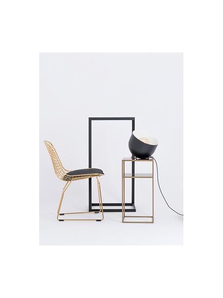 Stolik pomocniczy z metalu Tensio, Metal malowany proszkowo, Odcienie mosiądzu, S 30 x G 30 cm