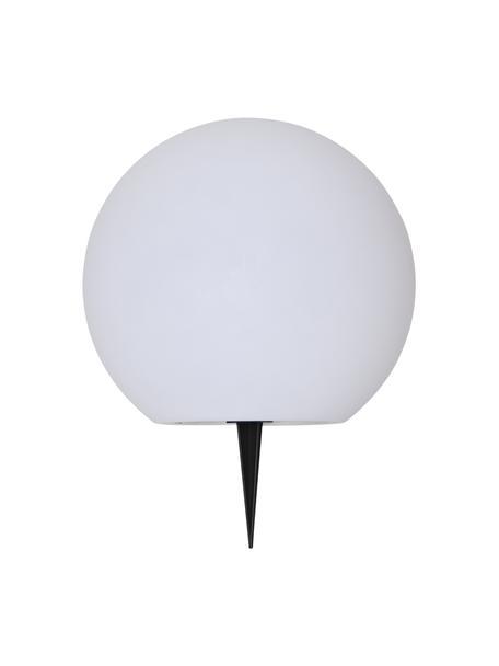 Lámpara de suelo solar Globy, Pantalla: plástico, Blanco, Ø 25 x Al 23 cm