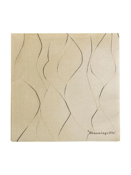 Papieren servetten Brownie, 20 stuks, Papier, Bruin, 33 x 33 cm