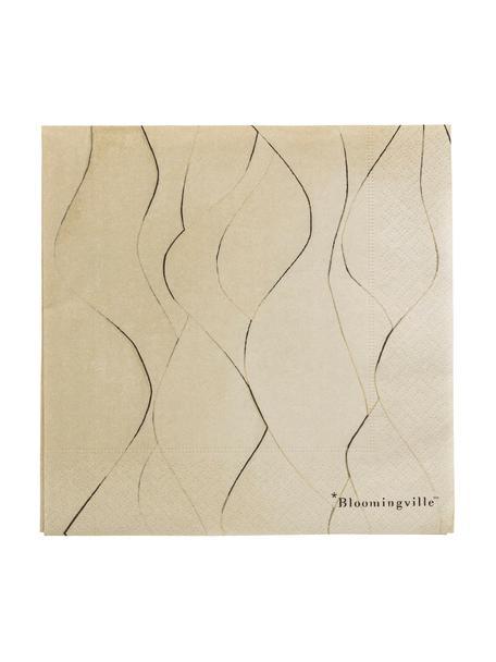 Papierservietten Brownie, 20 Stück, Papier, Braun, 33 x 33 cm