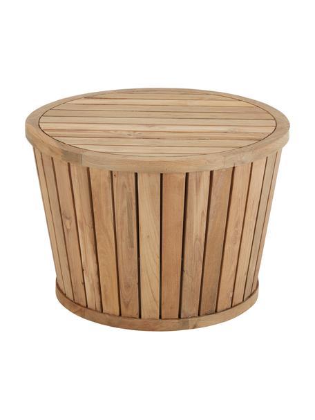 Stolik pomocniczy ogrodowy z drewna tekowego Circus, Drewno tekowe z recyklingu, Drewno tekowe, Ø 63 x W 43 cm