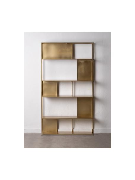 Regał z metalu Talme, Metal powlekany, Złoty, S 100 x W 175 cm