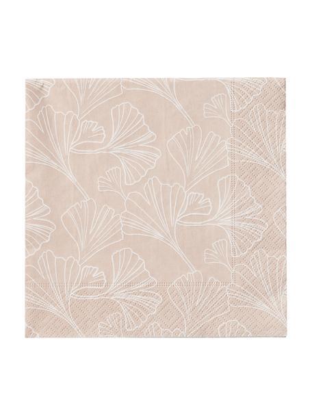 Serwetka z papieru Gigi, 20 szt., Papier, Blady różowy, biały, S 33 x D 33 cm