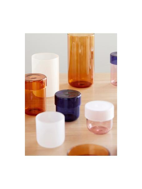 Opbergpottenset Transisto, 2-delig, Glas, Blauw, Pottenset S