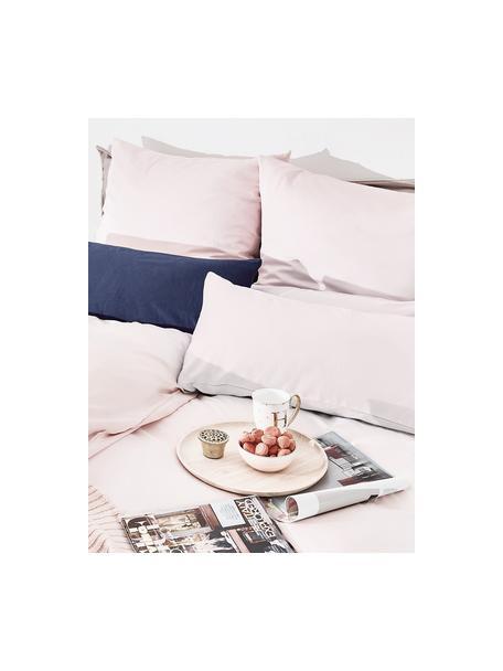 Poszewka na poduszkę z satyny bawełnianej Comfort, 2 szt., Blady różowy, S 40 x D 80 cm