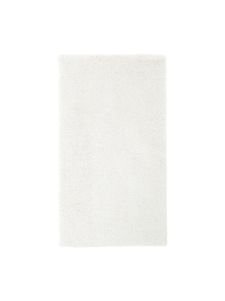Zacht hoogpolig vloerkleed Leighton in crèmekleur, Bovenzijde: microvezels (100% polyest, Onderzijde: 70% polyester, 30% katoen, Crèmekleurig, B 80 x L 150 cm (maat XS)