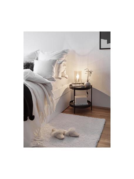 Flauschiger Hochflor-Teppich Leighton in Creme, Flor: Mikrofaser (100% Polyeste, Creme, B 80 x L 150 cm (Grösse XS)