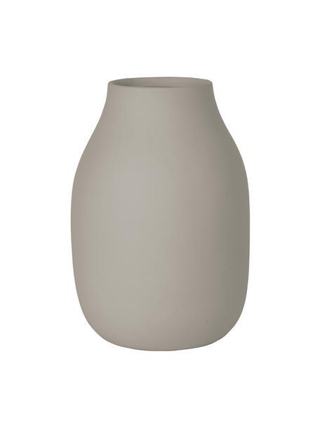 Keramik-Vase Colora, Keramik, Taupe, Ø 14 x H 20 cm