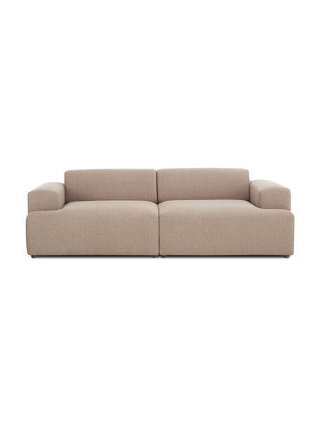 Sofa Melva (3-Sitzer) in Taupe, Bezug: 100% Polyester Der hochwe, Gestell: Massives Kiefernholz, FSC, Webstoff Taupe, B 238 x T 101 cm