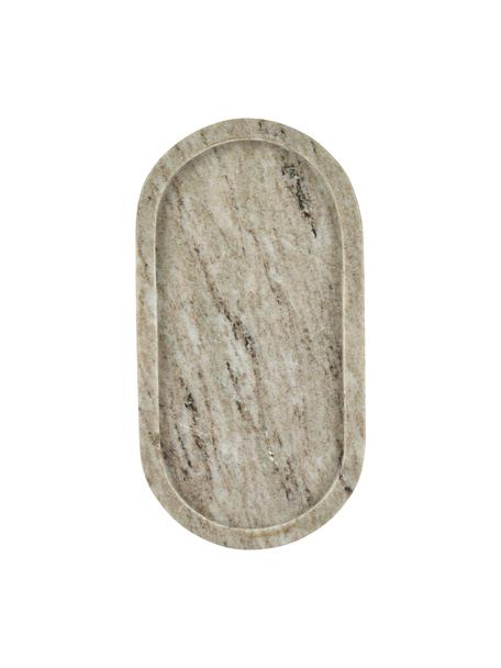 Vassoio decorativo in marmo beige, Marmo, Beige, Larg. 15 x Prof. 28 cm