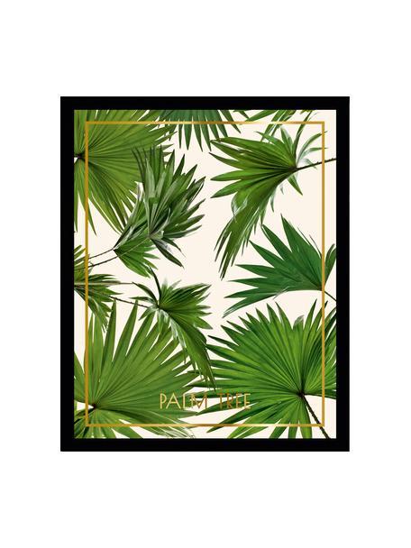 Ingelijste print Palm Tree I, Afbeelding: digitale print, Lijst: kunststoffen frame met gl, Multicolour, 30 x 40 cm