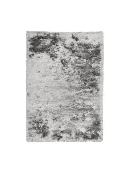 Glänzender Hochflor-Teppich Jimmy in Hellgrau, Flor: 100% Polyester, Hellgrau, B 120 x L 180 cm (Größe S)