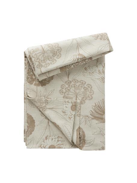 Mantel de algodón Freya, 86%algodón, 14%lino, Beige, marrón, De 4 a 6 comensales (An 145 x L 200 cm)