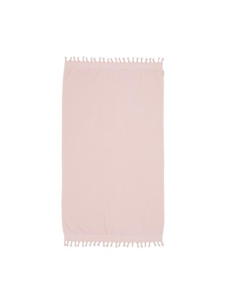 Ręcznik plażowy Soft Cotton, Blady różowy, biały, S 100 x D 180 cm
