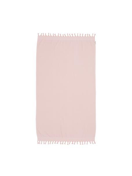 Telo mare Soft Cotton, Retro: Terry, Rosa, bianco, Larg. 100 x Lung. 180 cm