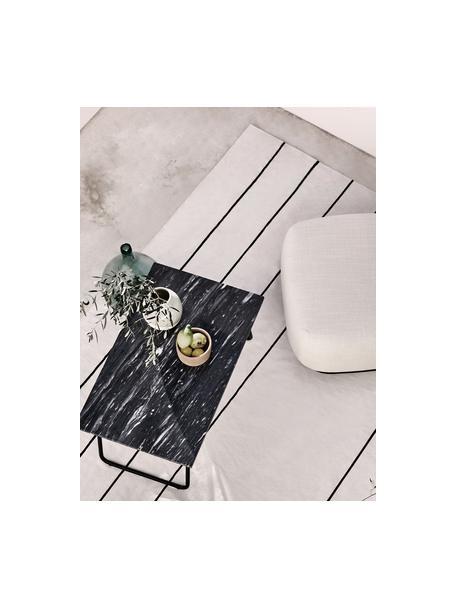Ręcznie wykonany dywan z bawełny tkany na płasko David, 100% bawełna, Kremowobiały, czarny, S 50 x D 80 cm (Rozmiar XXS)