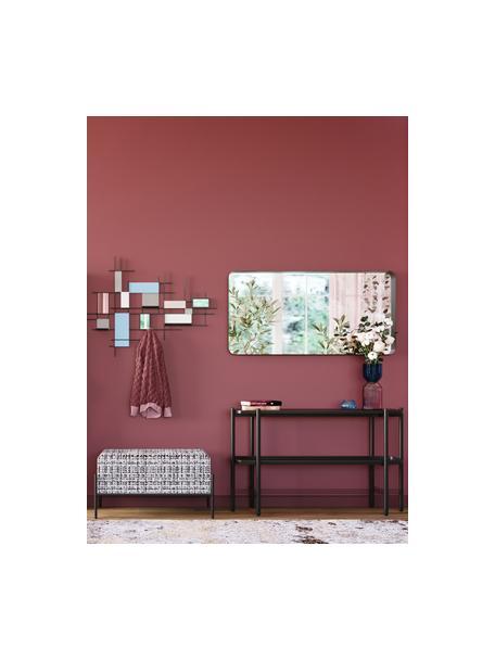 Consola Bennet, con tablero de mármol, Tablero: mármol, Estructura: acero pintado, Negro, An 120 x Al 72 cm