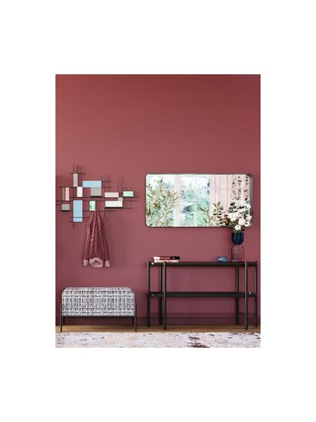 Wandtafel Bennet met marmeren blad, Tafelblad: marmer, Frame: gelakt staal, Zwart, 120 x 72 cm