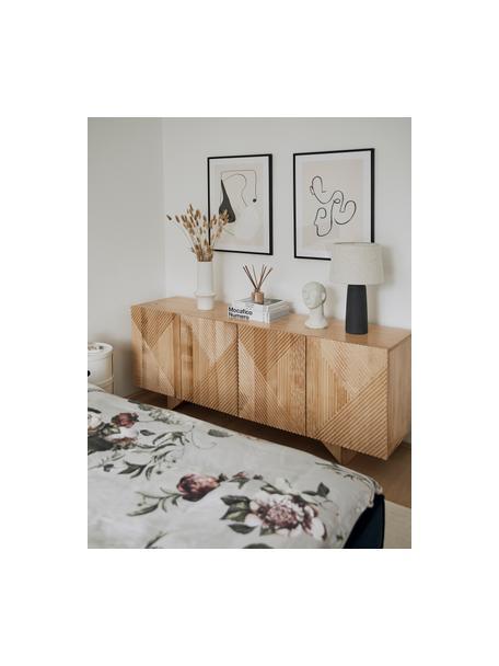Credenza in legno massello di mango Louis, Legno di frassino, Larg. 177 x Alt. 75 cm