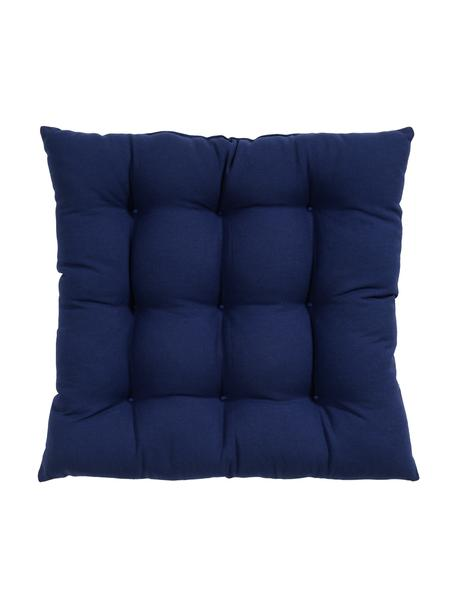 Cojín de asiento Ava, Funda: 100%algodón, Azul marino, An 40 x L 40 cm