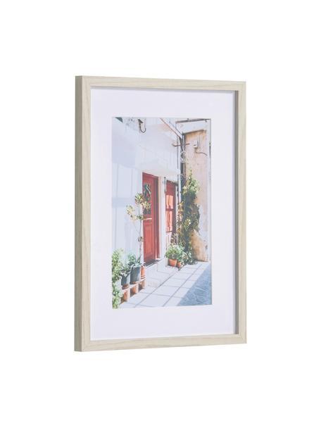 Ingelijste digitale print Leyla House, Lijst: gecoat MDF, Wit, multicolour, 30 x 40 cm