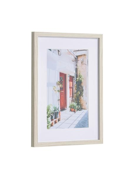 Stampa digitale incorniciata Leyla House, Cornice: pannello di fibra a media, Immagine: carta, Bianco, multicolore, Larg. 30 x Alt. 40 cm