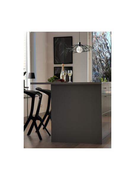 Lámpara de techo de diseño Ray, Pantalla: metal recubierto, Anclaje: metal, Cable: cubierto en tela, Negro, Ø 45 x Al 25 cm