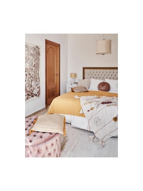 Wafelpiqué bedsprei Panal, 100% katoen, Geel, B 180 x L 260 cm (voor bedden tot 160 x 200)