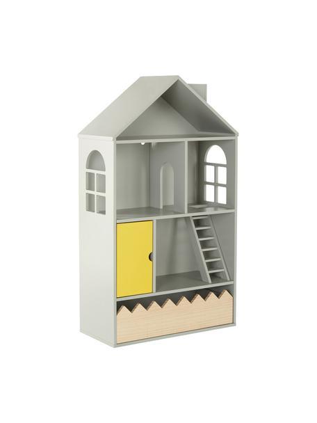 Zabawkowy domek dla lalek Mi Casa Su Casa, Drewno sosnowe, płyta pilśniowa średniej gęstości (MDF), Szary, żółty, S 61 x W 106 cm
