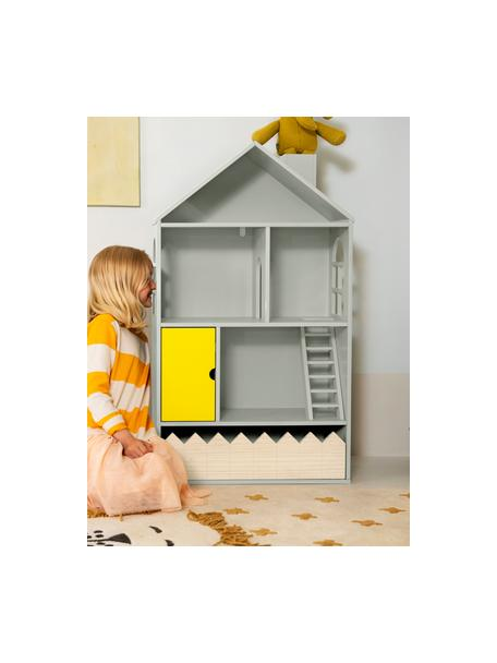 Casa delle bambole Mi Casa Su Casa, Legno di pino, pannello di fibra a media densità (MDF), Grigio, giallo, Larg. 61 x Alt. 106 cm
